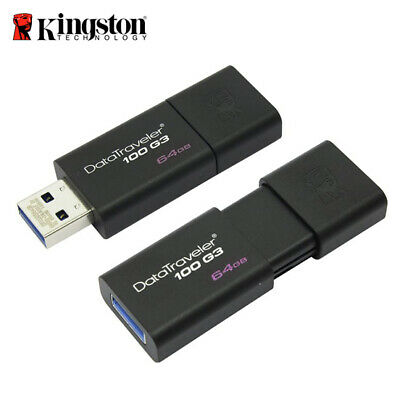 Kingston 64GB Data Traveler 100 G3 DT100G3 USB 3.0 Flash Capeless Pen Drive