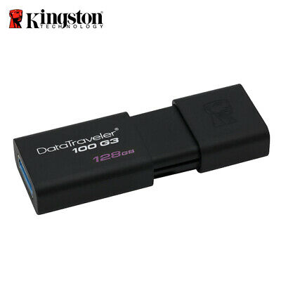 Kingston 128GB Data Traveler 100 G3 DT100G3 USB 3.0 Flash Capeless Pen Drive
