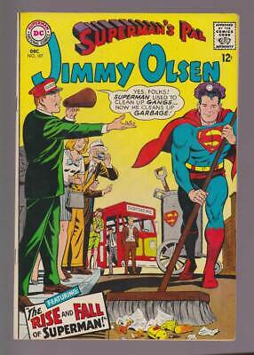 Jimmy Olsen # 107  The Rise and Fall of Superman !  grade 9.0 scarce book !