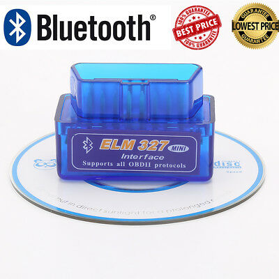 ELM327 OBD2 Code Reader Bluetooth Scanner V1.5 Diagnostic Interface For Android