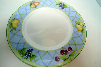 8 Mikasa Optima FRUIT RAPTURE Dinner Plates 10 7/8""
