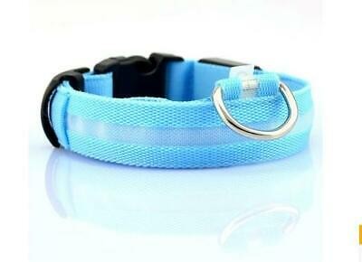 Nylon LED Pet Dog Cat Collar,Night Safety Flashing Glow In The Dark Dogs Leash S