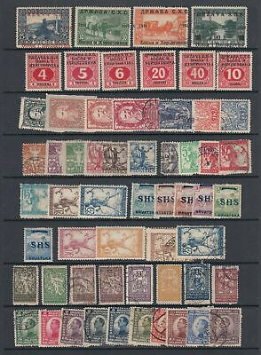 Yugoslavia early collection, 58 stamps MH or used