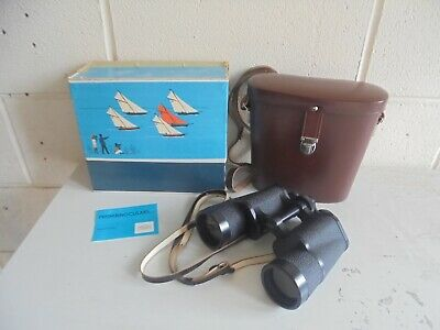 Carl Zeiss Jena Prism Binoculars Jenoptem 10 X 50 W In Case & Original Box