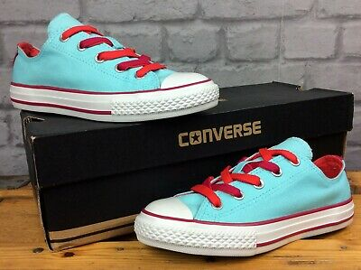 Converse Uk 13.5 Eu 32 Ctas Double Tongue Blue Red White Trainers Childrens