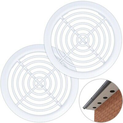 50 x 70mm Brown Plastic Round Circular Push In Soffit Air Vents Vivarium Caravan