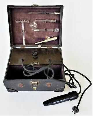 antique ULTRA VIOLET quack MEDICAL ELECTRIC THERAPY KIT health