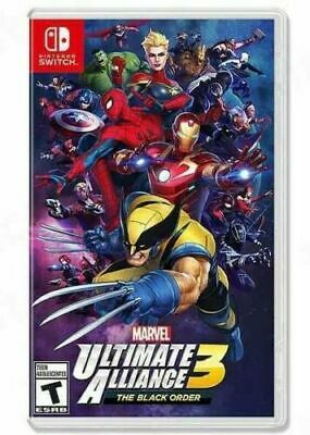 Marvel Ultimate Alliance 3: The Black Order (Nintendo Switch, 2019) Brand New