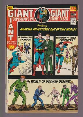 Jimmy Olsen # 140  Adventures Out of this World !  grade 8.5 scarce book !