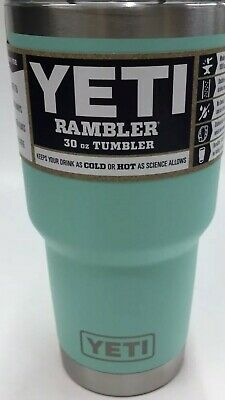 Yeti 30 Oz Rambler Tumbler With Mag Slid Lid  Stainless Steel Insulated SEAFOAM
