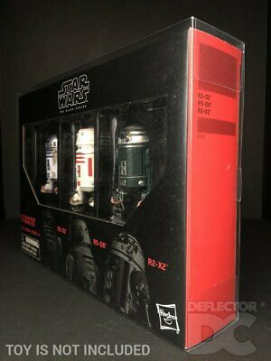 Star Wars The Black Series 6 Inch Droid 3 Pack Protective Display Case
