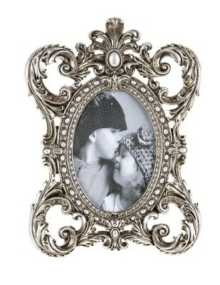 Vintage Pewter effect Ornate Gold/Silver Baroque Rococo-stylePhoto Picture Frame