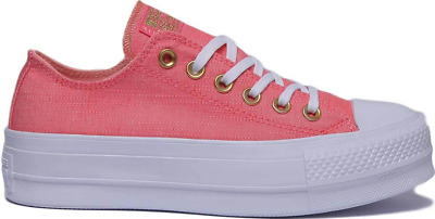 innovative design most fashionable high quality materials CONVERSE WOMEN'S PLATFORM lift sneakers Pink Canvas Lo Tops ...
