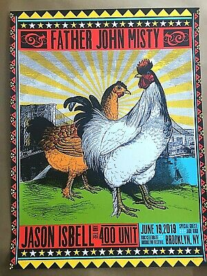 Jason Isbell Father John Misty Brooklyn Ny 2019 Se Signed S/N Poster Print