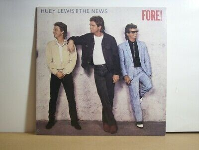 Huey Lewis & The News Fore! LP record stereo with original inner sleeve