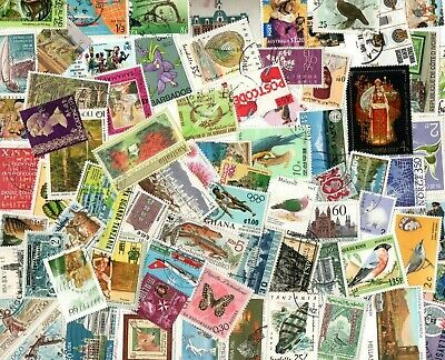 1/4 POUND ALL WORLD SELECTION inc COMMONWEALTH OFF PAPER STAMPS E374