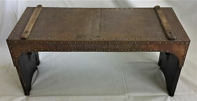 antique ARTS CRAFTS COPPER WOOD BENCH 22.5x9.5x10.5 lancaster pa handmade aafa