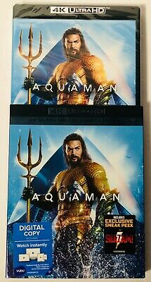 DC Aquaman (4K Ultra HD+Blu-ray+Digital) BRAND NEW FACTORY SEALED