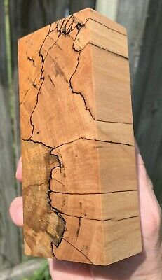 Stabilized Black line Spalted Maple Knife Block.   5.04 x 2.22 x 1.40   (1919)