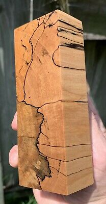 Stabilized Black line Spalted Maple Knife Block.   5.10 x 1.90 x 1.28   (1926)