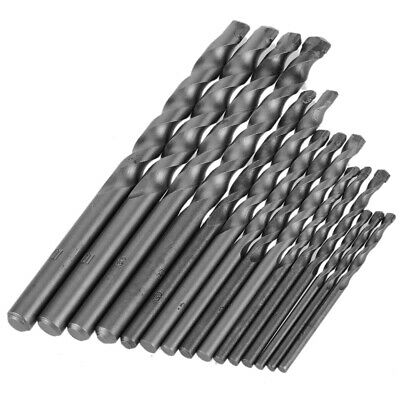 15pcs 3-10mm Round Shank Masonry Drill Bits Set for Concrete Metal Plastic N8U0