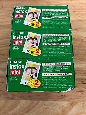 Fujifilm Instax Mini ISO 800 - Color instant film Pack Of 3