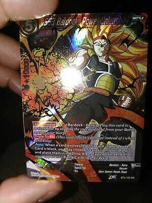 SS3 Bardock Power Unleashed BT3-109 SR Dragon Ball Super TCG NEAR MINT