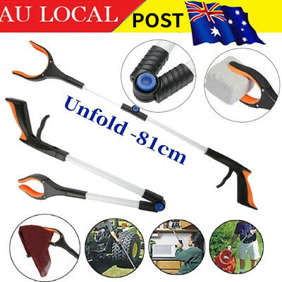 "81cm (31.9"") Grabber Reacher Long Hand Mobility Aid Pick Up Litter Picker Tool"