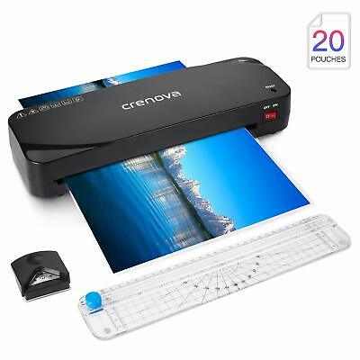 A4 Professional Thermal Office Home Hot Laminator+Free 20 Laminating Pouches