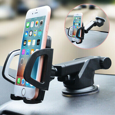 Auto Universal Car Phone Holder Suction Windshield Dashboard Stand Mount Bracket