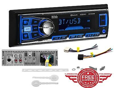 Boss Single Din USB AUX Radio Car Stereo Receiver Audio Bluetooth Enabled