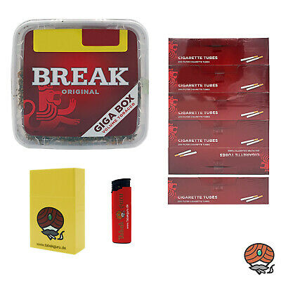 1x Break Volumentabak Giga Box 300g + 1200 Break Hülsen + Zubehör