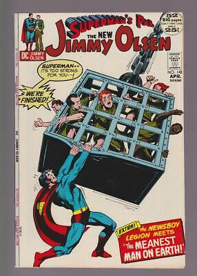 Jimmy Olsen # 148  We're Finished !  Adams cover !  grade 8.5 scarce book !