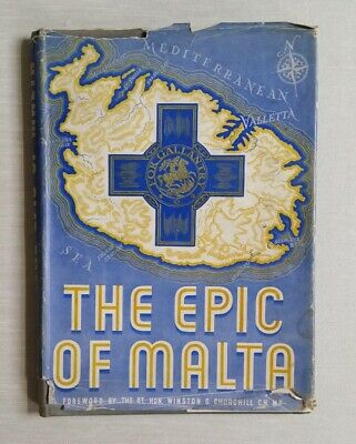 The Epic Of Malta, foreword by Winston S Churchill, Odhams Press, Hardcover