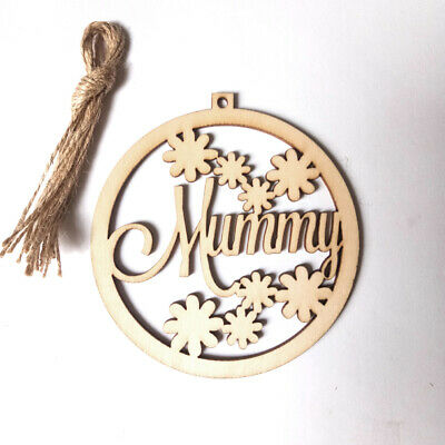 Laser Cut Wooden Wooden Slice Wood DIY Crafts Hanging Ornament Mother's Day