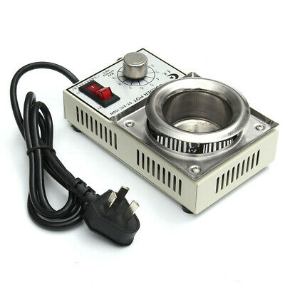 150W 220V Solder Pot Soldering Desoldering Bath 50mm ST-21C 200-450 Degree   UK