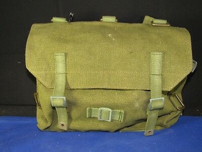 "1950-60's Danish Army Gas Mask Field Pack-Pouch-Bag Rucksack""HMAK"""