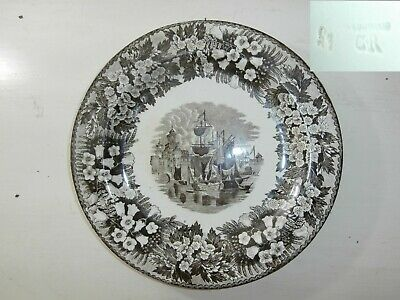 Antico piatto Wedgwood earthenware impressed mark Marchio incusso 700 - 800 18th