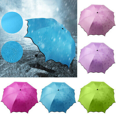Waterproof Portable Folding Rain Sunlight Umbrella Travel Anti-UV Parasols Lates