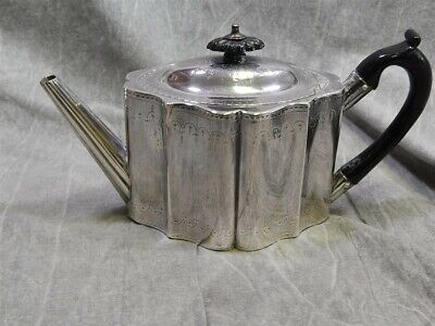 1787 British Sterling Silver Teapot by William Plummer - no monogram