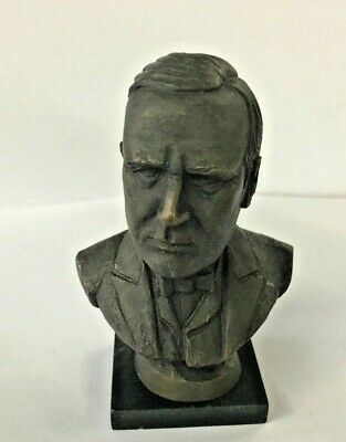 William Mckinley President Bust Statue Bronze Franklin Mint