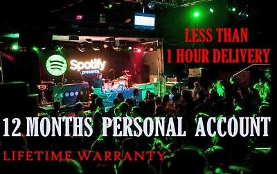 Spotify premium code/private 1 year 12 months personal account🚀1hour delivery
