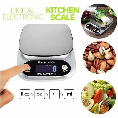 Digital Stainless Steel Kitchen Scale Multifunction LCD Screen Food Scale 10 kg