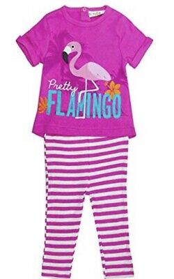 Baby Girls Pyjama Flamingo Set Pajama New Lily Nightwear Age 9 - 36 Mths