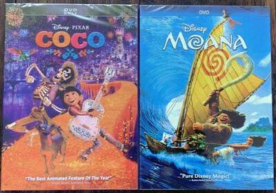 Coco and Moana DIsney DVD Brand New Free Shipping !!