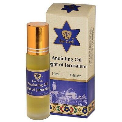 Anointing Oil from Israel - Light of Jerusalem - Roll On 10ml Shipped Holy Land