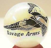 Very Nice Savage Arms Firearms White Glass Marbles