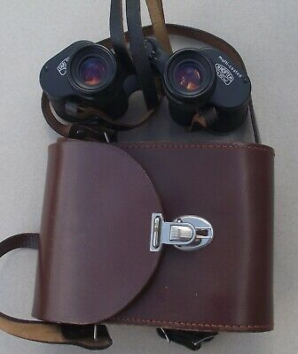CARL ZEISS JENA JENOPTEM 8 x 30w MULTI COATED BINOCULARS 4885829 IN LEATHER CASE