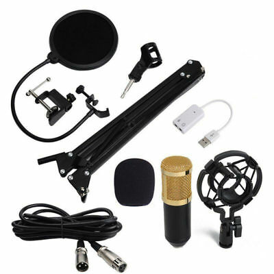 BM800 Condenser Microphone Kit with Black Mic Arm Stand and Pop Filter Household