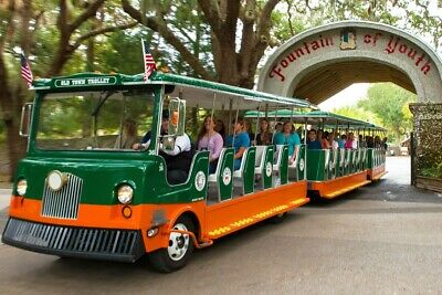 Old Town Trolley Tour Historic St. Augustine 2 Adult Tickets Exp 2/20 Free Ship